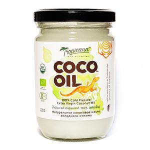 Кокосовое масло холодного отжима в стекле Tropicana New, 220 мл