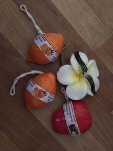 Мыло фруктовое тайское Мандарин в кожуре
