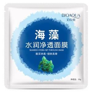 Маска для лица с морскими водорослями Bioaqua Seaweed Hydra Net Mask, 30 гр