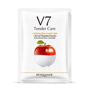 Восстанавливающая маска с экстрактом яблока V7 Bioaqua, 30 гр