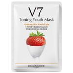Витаминная маска с экстрактом клубники Bioaqua V7 Toning Youth Mask, 30 гр