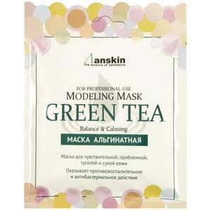 Альгинатная маска успокаивающая Anskin Green Tea Modeling Mask, 25 гр