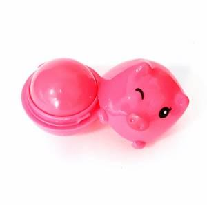 Ароматный бальзам для губ с запахом клубники «Хрюшка», 12 гр