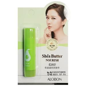 Бальзам для губ с маслом Ши и зеленым чаем Alobon Shea Butter