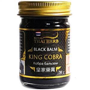 Черный бальзам с ядом королевской кобры Thai Herb King Cobra, 50 гр