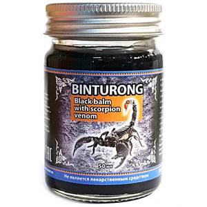 Черный бальзам с ядом скорпиона Binturong Black Scorpion Venom, 50 гр