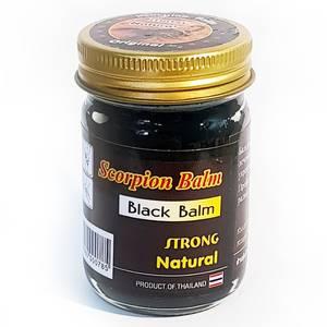 Черный тайский бальзам «Скорпион» Scorpion Balm Black Strong, 50 гр