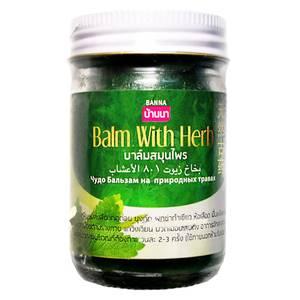 Охлаждающий зеленый травяной бальзам Banna Balm With Herb, 50 гр