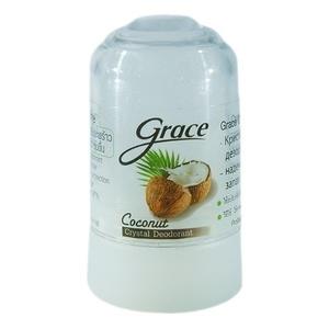 Дезодорант-кристалл минеральный с кокосом Grace Crystal, 40 гр