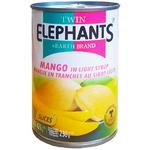 Дольки манго в сиропе Twin Elephants & Earth Mango, 425 гр