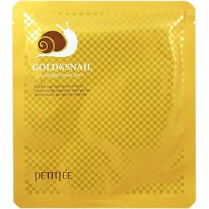 Гидрогелевая маска для лица с золотом и муцином улитки Petitfee, 30 гр