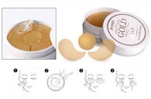 Гидрогелевые патчи для глаз с золотом Petitfee Premium Gold & EGF Eye Patch, 60 шт