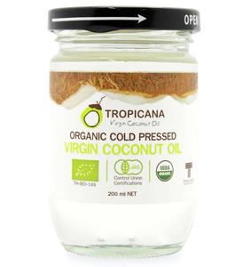 Кокосовое масло холодного отжима Tropicana Virgin Coconut Oil, 200 мл