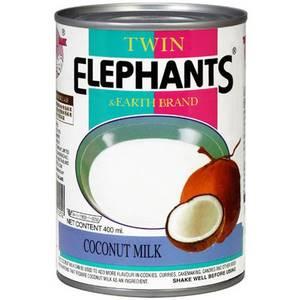 Кокосовое молоко повышенной жирности Twin Elephants & Earth, 400 мл