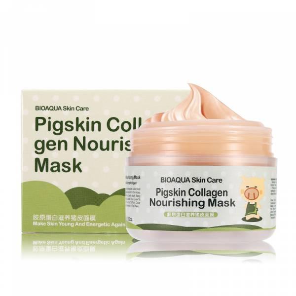 Коллагеновая маска для лица BioAqua Pigskin Collagen Nourishing Mask, 100 гр