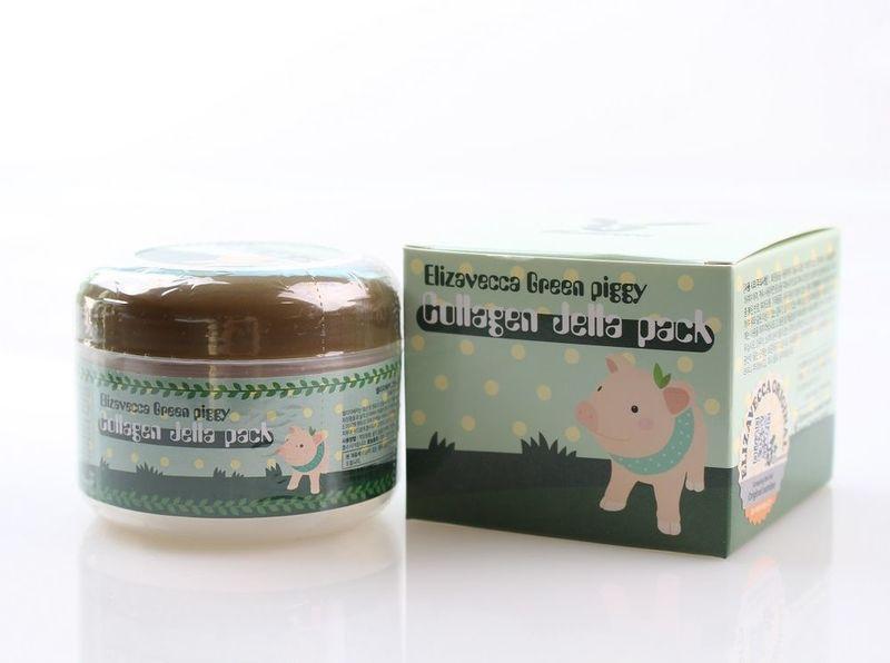 Коллагеновая маска для лица Elizavecca Green Piggy Collagen Jella Pack, 100 гр