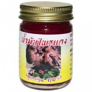 Красный бальзам от варикоза с галангом Плай Дэнг (Кулаб), 50 гр
