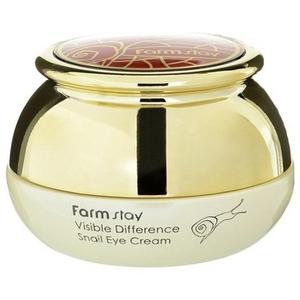 Крем для глаз с экстрактом улитки FarmStay Visible Difference Snail, 50 гр