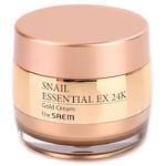 Крем улиточный с золотом The Saem Snail Essential EX 24K Gold Cream, 50 мл