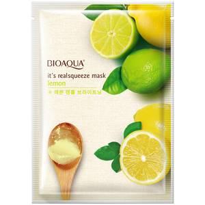 Маска для лица с экстрактом лимона Bioaqua Lemon Nourishing Mask, 30 гр