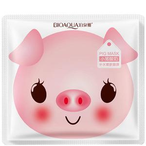 Маска для лица со свиным коллагеном и йогуртом BioAqua Pig Milk, 30 гр