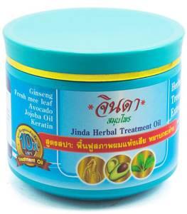 Маска для волос с кератином и женьшенем Jinda Ginseng Herbal Treatment, 400 мл