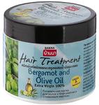 Маска для жирных волос с бергамотом и оливковым маслом Banna, 300 гр