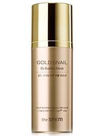 Маска кислородная с муцином улитки The Saem Gold Snail O2 Bubble Mask Jumbo, 105 гр