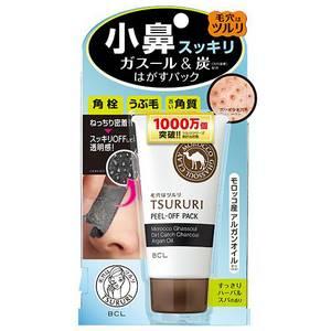 Маска-пленка для очищения пор с глиной и древесным углем BCL Tsururi, 55 гр