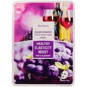 Маска с экстрактом черники и винограда Deoproce Color Synergy Effect, 20 гр