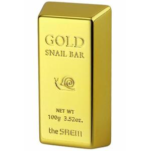 Мыло для умывания с экстрактом золота, муцина улитки, оливы The Saem, 100 гр