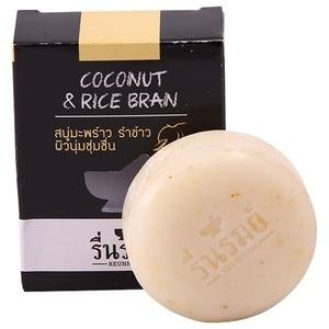 Мыло-скраб натуральное Reunrom с кокосом и рисовыми отрубями, 65 гр