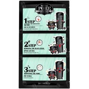 Набор патчей для удаления черных точек Secret Key Black Out Pore 3-Step Nose Pack, 7 гр