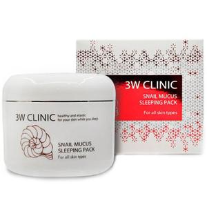 Ночная маска c улиточным муцином 3W Clinic Snail Mucus Sleeping Pack, 100 мл