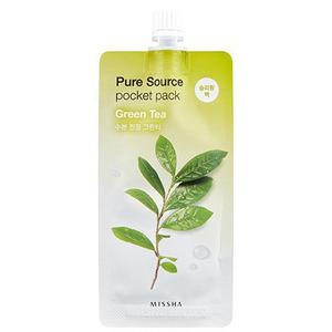 Ночная маска с зелёным чаем Missha Pure Source Pocket Pack Green Tea, 10 мл