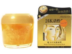 Ночная матирующая маска с жемчужной пудрой и золотом 24K, 120 гр