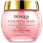 Ночная смягчающая маска для лица с лепестками роз Bioaqua Rose Petal Mask, 120 мл