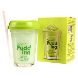 Освежающая маска для лица с зеленым чаем Mengkou Facial Pudding, 100 гр