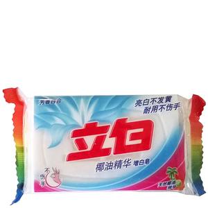 Отбеливающее мыло для стирки белья с кокосовым маслом Liby, 232 гр