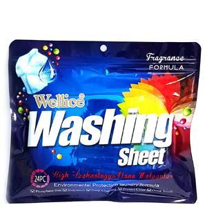 Отбеливающие салфетки для стирки Wellice Washing sheet, 24 шт