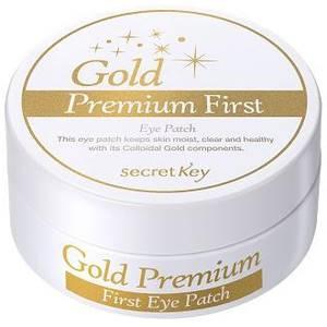 Патчи для глаз с золотом Secret Key Premium First Eye Patch,  60 шт