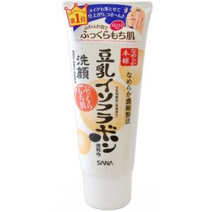 Пенка для умывания и снятия макияжа с изофлавонами сои Sana, 150 гр