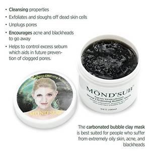 Пузырьковая маска для лица Mondsub Deep Cleansing Bubble Mask, 100 мл