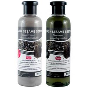 Шампунь и кондиционер с черным кунжутом Banna Black Sesame Seeds