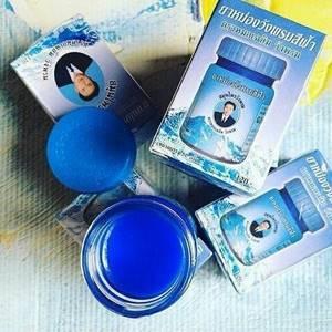 Синий бальзам от варикоза Wang Prom Blue Balm, 50 гр