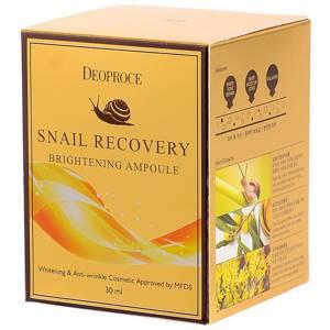 Сыворотка с муцином улитки Deoproce Snail Recovery Brightening Ampoule, 30 гр