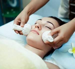 Тайский травяной мешочек для горячего массажа (для лица)