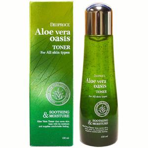 Тонер для лица с алоэ вера Deoproce Aloe Vera Oasis Toner, 150 мл