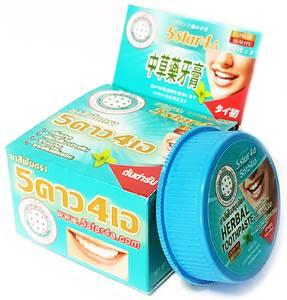Твердая зубная паста 5star4a «Естественное отбеливание», 30 гр
