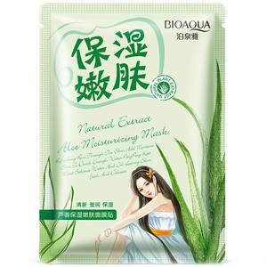 Успокаивающая маска с экстрактом алоэ вера BioAqua Natural Extract, 30 гр